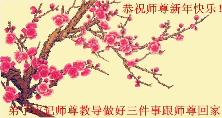 Falun Dafa-Praktizierende in der Provinz Hubei wünschen dem ...