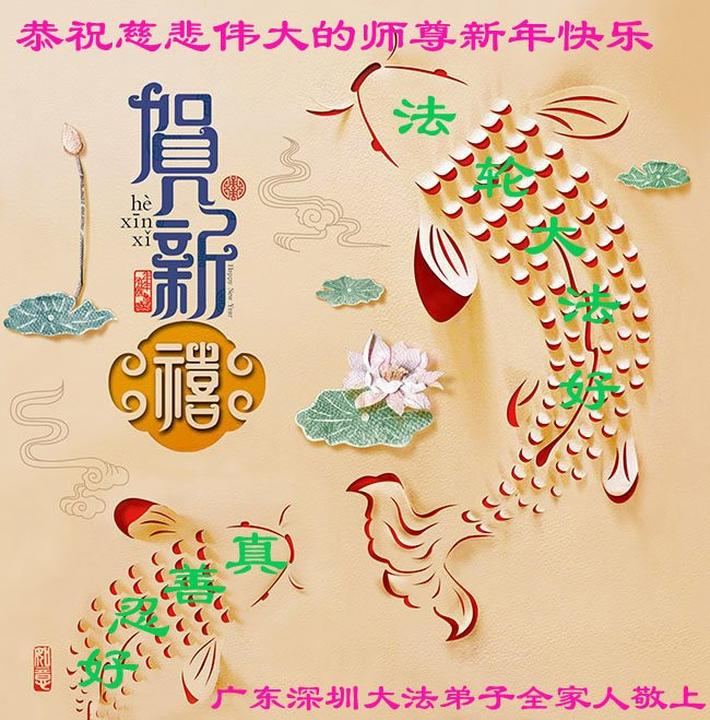 Falun Dafa-Praktizierende aus China wünschen dem verehrten Meister ...